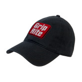 Black Twill Unstructured Low Profile Hat-Grip-Rite