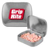 Silver Rectangular Peppermint Tin-Grip-Rite