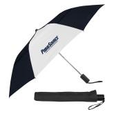 42 Inch Slim Stick Black/White Vented Umbrella-PrimeSource