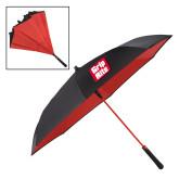 48 Inch Auto Open Black/Red Inversion Umbrella-Grip-Rite