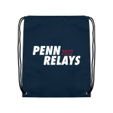 Navy Drawstring Backpack-Penn Relays 2018 Step Stack