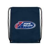 Navy Drawstring Backpack-Penn Relays 2018 Logo