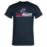 Navy T Shirt-Penn Relays Franklin Field 2017 Stacked