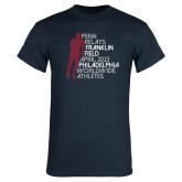 Navy T Shirt-Lineed Runner