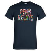 Navy T Shirt-World Flags Penn Relays