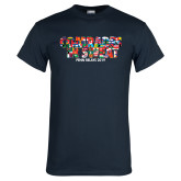 Navy T Shirt-Comrades In Sweat - World Flags