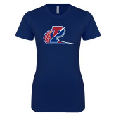 Next Level Ladies SoftStyle Junior Fitted Navy Tee-Penn Relays