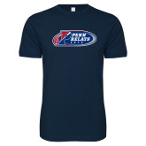 Next Level SoftStyle Navy T Shirt-Penn Relays 2018 Logo