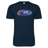 Next Level SoftStyle Navy T Shirt-Penn Relays 2018 Logo