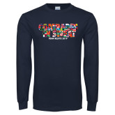 Navy Long Sleeve T Shirt-Comrades In Sweat - World Flags