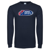 Navy Long Sleeve T Shirt-Penn Relays 2018 Logo