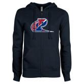ENZA Ladies Navy Fleece Full Zip Hoodie-Penn Relays