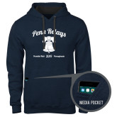 Contemporary Sofspun Navy Heather Hoodie-Penn Relays w/ Liberty Bell Script