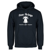 Navy Fleece Hoodie-Penn Relays w/ Liberty Bell Script