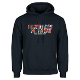 Navy Fleece Hoodie-Comrades In Sweat - World Flags