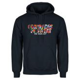 Navy Fleece Hoodie-Comrades In Sweat - World Flags
