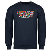Navy Fleece Crew-Comrades In Sweat - World Flags