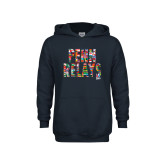 Youth Navy Fleece Hoodie-World Flags Penn Relays