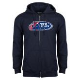 Navy Fleece Full Zip Hoodie-Penn Relays 2018 Logo
