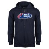Navy Fleece Full Zip Hoodie-Penn Relays 2018 Logo