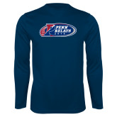 Performance Navy Longsleeve Shirt-Penn Relays 2018 Logo