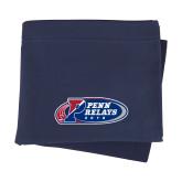 Navy Sweatshirt Blanket-Penn Relays 2018 Logo