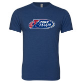 Next Level Vintage Navy Tri Blend Crew-Penn Relays 2018 Logo
