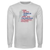 White Long Sleeve T Shirt-Lineed Runner