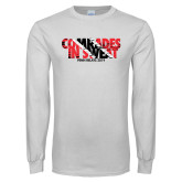 White Long Sleeve T Shirt-Comrades In Sweat - Trinidad Flag