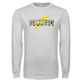 White Long Sleeve T Shirt-Penn Relays Jamaica w Shoe