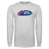 White Long Sleeve T Shirt-Penn Relays 2018 Logo