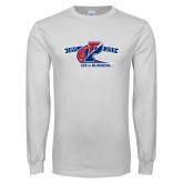 White Long Sleeve T Shirt-Penn 125th Running