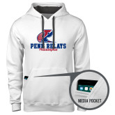 Contemporary Sofspun White Hoodie-Penn Relays Philadelphia Scripted