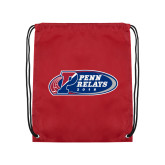 Cardinal Drawstring Backpack-Penn Relays 2018 Logo