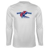 Performance White Longsleeve Shirt-Penn 125th Running