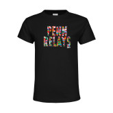Youth Black T Shirt-World Flags Penn Relays