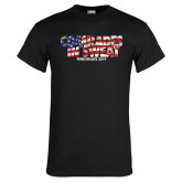 Black T Shirt-Comrades In Sweat - USA Flag