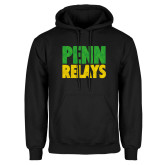 Black Fleece Hoodie-Penn Relays Stacked - Jamaica Colors