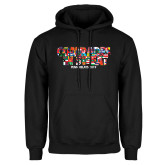 Black Fleece Hoodie-Comrades In Sweat - World Flags