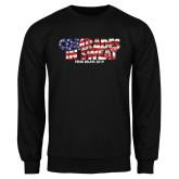 Black Fleece Crew-Comrades In Sweat - USA Flag