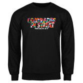Black Fleece Crew-Comrades In Sweat - World Flags