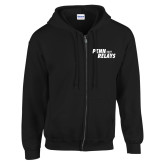 Black Fleece Full Zip Hoodie-Penn Relays 2018 Step Stack