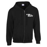 Black Fleece Full Zip Hoodie-Penn Relays Step Stack