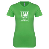 Next Level Ladies SoftStyle Junior Fitted Kelly Green Tee-Jam Penn Relays In Box