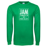 Kelly Green Long Sleeve T Shirt-Jam Penn Relays In Box