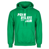 Kelly Green Fleece Hoodie-Penn Relays Jam 2018