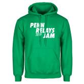 Kelly Green Fleece Hoodie-Penn Relays Jam 2018