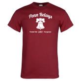 Cardinal T Shirt-Penn Relays w/ Liberty Bell Script