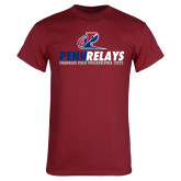 Cardinal T Shirt-Penn Relays Franklin Field 2017 Stacked