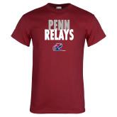Cardinal T Shirt-Penn Relays Stacked w Logo